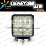 16pcs*3w 48w High Intensity Epsitar LEDS 48W Led Work Light Driving Light Led Offroad Light For 4wd For Jeep Truck