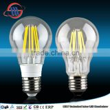 2015 New style CE ROHS approval A60 led solar light, e27 led light bulb cool white, filament leb bulb