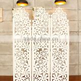 Hollow out wooden room divider screen foldable screens to divide room