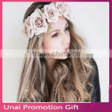 Handmade Flower Crown Wedding Wreath Bridal Headdress Headband Hairband Hair Band Accessories for Women Lady Girl