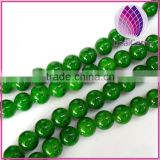 Imitation jade Hand painted glass 8mm round 34inch / strand