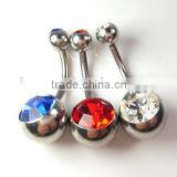 316L stainless steel navel body piercing jewelry belly bar curved barbell navel rings piercing
