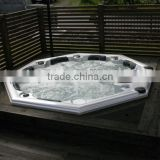 new large round balbao control outdoor whirlpool bathtub hot tub with sex video/tv/overflow/pillow