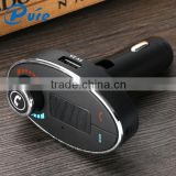 Free Sample Wholesale USB Car Charger Bluetooth Handsfree Car Kit FM Transmitter MP3 Player fit to all types of Vehicles