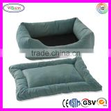B771 2-in-1 Plush Bumper Dog Bed Soft Luxurious Removable Pad Pet Dog Bed