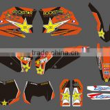 mini bike stickers/Dirt Bike Decal/Motorbike/motocross GRAPHICS kit for Motorcycle(DST0001)