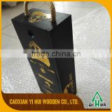 attractive gift bamboo wood box bamboo wine box for sale