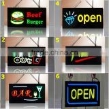 Wireless LED resin sign colorful LED display board for bus advertising open sign