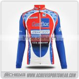 Custom compression tight cycling team jersey sets long sleeve anti-UV bicycle jersey