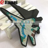 OEM PVC trouist airplane shape rubber magnet