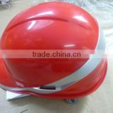 hot sale CE safety hard hat with fluorescent bar/PE protective helmet construction/rd ,yellow/blue/white safety helmet