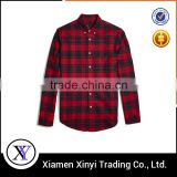 Custom Made Fashion Red/Black Checks Men Quilted Flannel Shirts