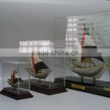 Noble Customized Made Crystal Arab flag boat and dhow For Office Decoration And Islamic Souvenirs Gifts