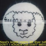 Big selling artwork organic soft felted dryer ball/Nepal hand made felted dryer balls