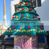 Happy christmas day decoration huge inflatable tree for yard outdoor decoration