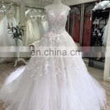 2017 new model chapel train luxury chinese bride wedding dress