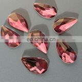 Mirror Flat Back Loose Glass Stones For Garment Decoration