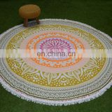 Wholesale wall hanging beach towel india mandala round tapestry