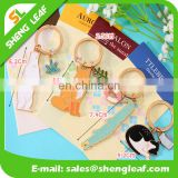 Promotional item simple design custom colorful metal keychains