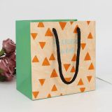 Brown eco small paper shopping bag