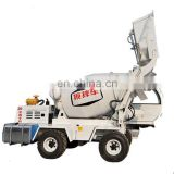 Automatic feeding mixer truck/ Self Loading Cement Mixing Mini Mobile Concrete Mixer Truck