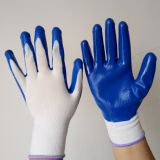 nitrile palm coated safety work gloves