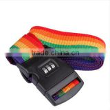 Fashion Travel Luggage Belt Packing Strap Rainbow Color With Coded Lock Baggage