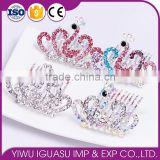 2015 new model FZZ-247 holloween wedding tiara crown wholesale princess crown for girls coroa de princesa de cabelo