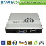 New Design aluminium alloy Intel C1037U 1.8Ghz ultra smart pc K390M built-in 2GB RAM 16GB SSD wifi optional