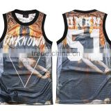 Wholesale men's fashion tank top breathable basketball vest basketball jersey                                                                         Quality Choice