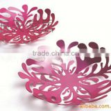 Hot Selling Aluminium Alloy Decoration Flower Shaped Plates