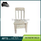 Hot sale factory price natural wooden bedroom chair for kids studying