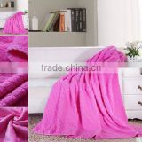 Polyester Super Soft Coral Fleece Blanket Ultrasonic Cut Edgeless Clipped Slight Blanket for Summer