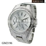 Chinese brands chronophy crystal ladies geneva platinum watch
