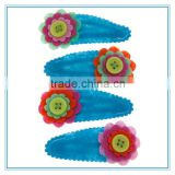 Kids felt flower hair accessories, diy handmade hair flowers, safe hair clips with fabric