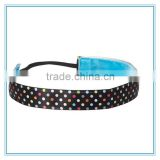 Men sport headband, fashional women's polka dots elastic hair band, custom printing hair accessory