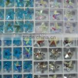 Glass Beads, Shape Crystal Charm Beads, Jewelry GLASS BEADS, 14~17MM CRYSTAL GLASS BEADS SOME WITH AB SOME WITHOUT AB RAINBOW