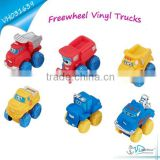 Free Wheel Cartoon Baby Rubber toy truck