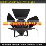 54X3W warm white led par 64 light for theatre stage show, wedding backdrops lighting led par 54x3w warm white led par 64
