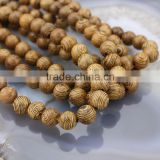 SB0710 Sacred Healing Holy Wooden Tassel Necklace Beads,Natural Wenge Millettia round wooden beads for men                                                                         Quality Choice