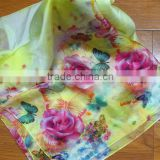 Fashionable 30D chiffon imitation digital print long scarf 100% silk scarf                                                                         Quality Choice