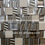 MOSAIC 8MM Metallic Glass Mosaic, Marble / Stone, Stainless Steel Mosaic Mix Aluminum Mosaic