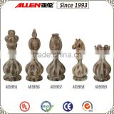 "7.5"" international chess set, wood finish 5/s resin giant chess set"
