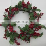 Wholesale Decorative Artificial Natural red berries Fall wreath
