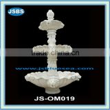 white natural stone 3 tier lion head water fountain