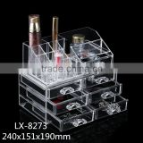2015 PS material 6 clear plastic drawers cosmetic organizer                                                                         Quality Choice