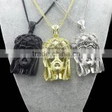 Gunblack/Silver/Gold Great Ape Monkey Necklace with Hair