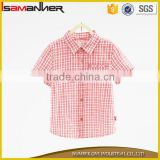 2016 new arrive short sleeve plaid latest fashion baby girl blouse design
