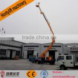 manufacturing machine articulated boom lift/larm crane for window cleaning/single person aerial work platform