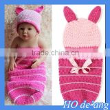 HOGIFT 2015 New Newborn Costume baby hat short pants set handmade Knit crochet photography props 2 pcs outfits